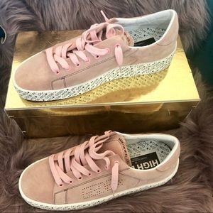 New Golden Goose DB A4 Pink Suede Ggdb Afg Sole